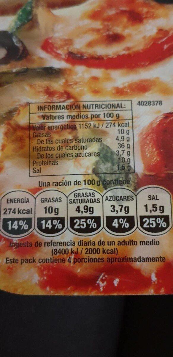 Campofrío vegelia - Nutrition facts - es