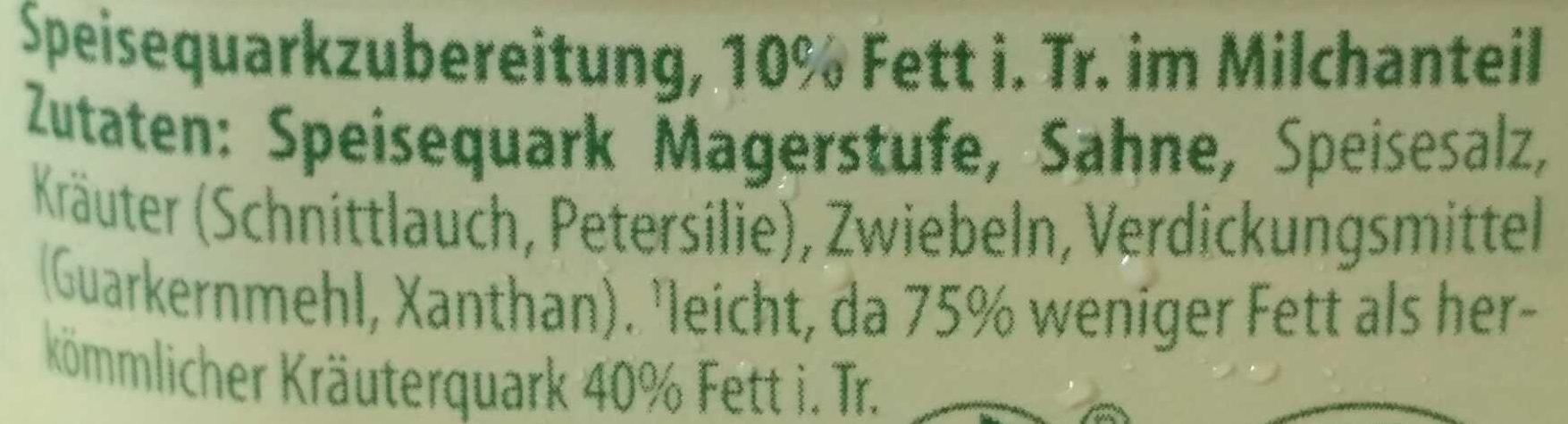 KräuterQuark cremig leicht - Ingredients - de
