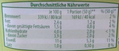 KräuterQuark cremig leicht - Nutrition facts - de