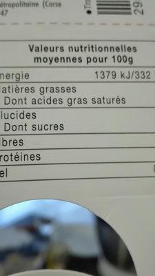 mousse au chocolat noir intense - Voedingswaarden - fr