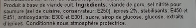 jambon épicé - Ingredienti - fr