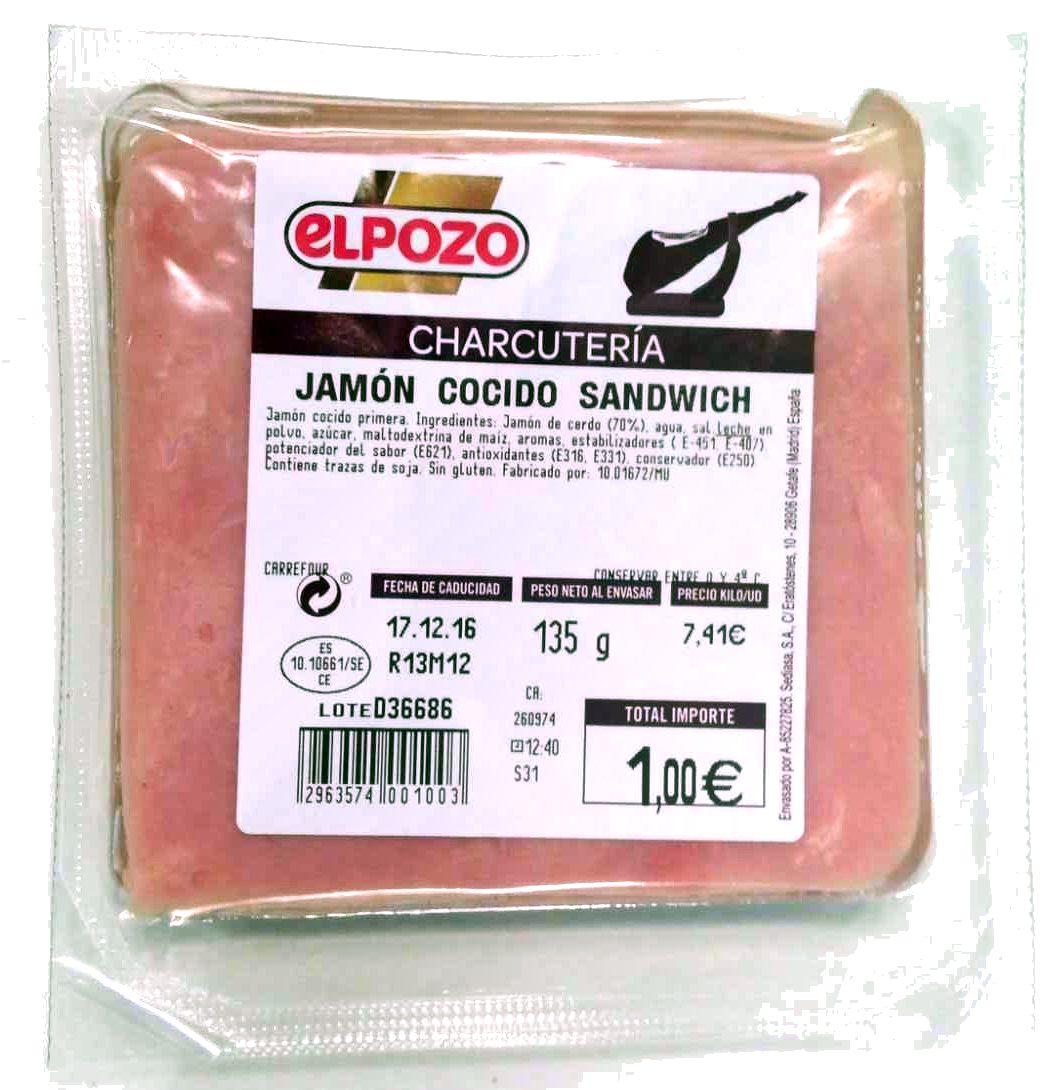 Jamón cocido Sandwich - Producto