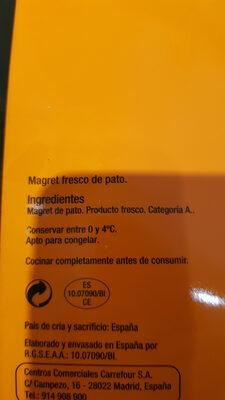 Magret fresco de pato - Produit - es