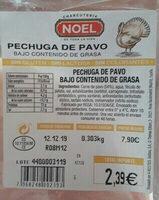 Pechuga de pavo - Ingredientes - es