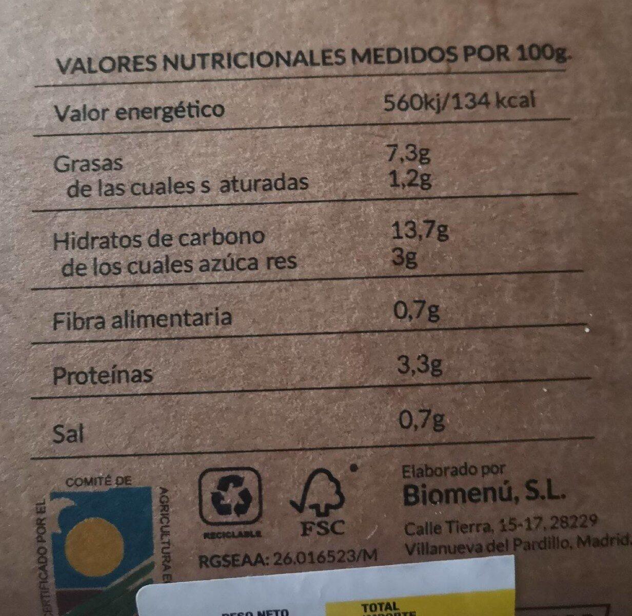 Ensaladilla rusa - Nutrition facts