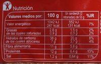 Yogur Siggi's Blueberry - Información nutricional - es