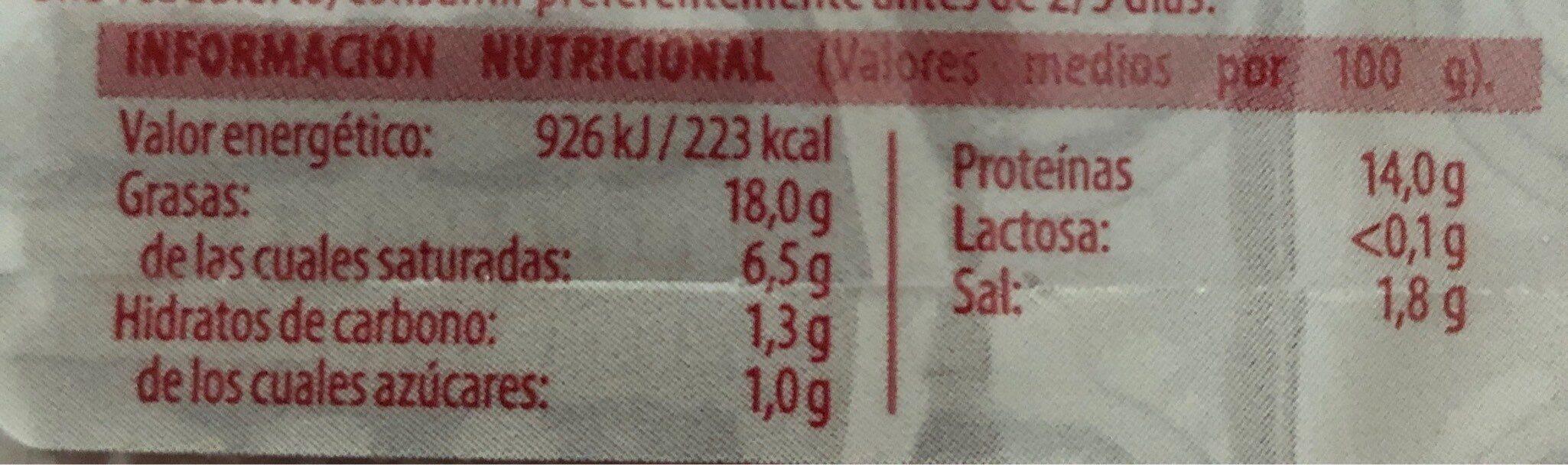 Tiras de bacon - Nutrition facts
