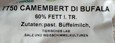Camembert di Bufala - Ingrédients - en