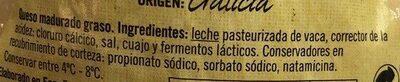 Queso tetilla - Ingredients - es