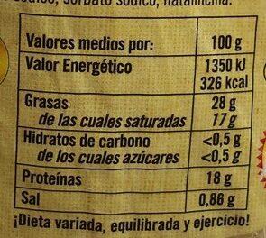 Queso tetilla - Nutrition facts - es