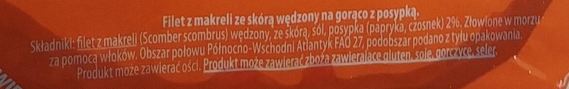 Filet z makreli wędzony z posypką - Ingrédients - pl