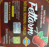 Fettarm weight loss support 30 Capsules Square - Informations nutritionnelles - en