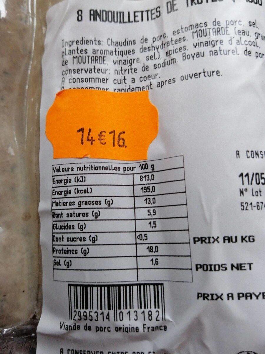 Andouillettes de troyes - Ingrediënten - fr