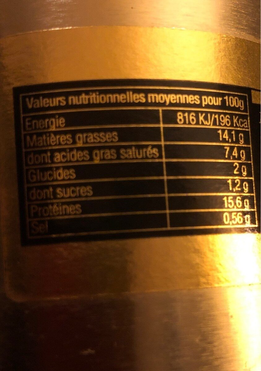 Boudin maison - Nutrition facts - fr