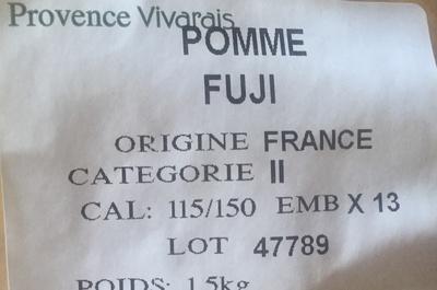 Pomme Fuji - Ingrédients - fr