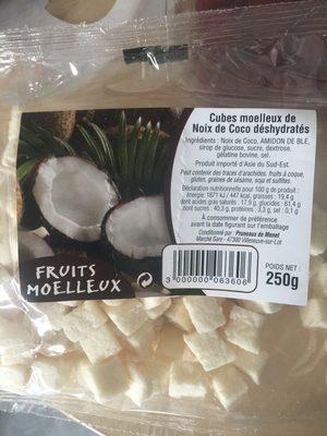 Cubes moelleux de noix de coco déshydratés - Product