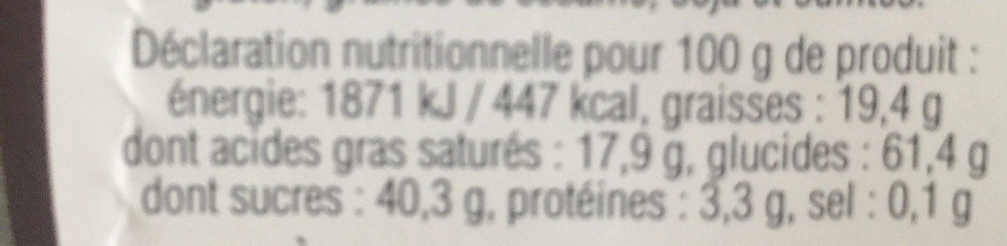 Cubes moelleux de noix de coco déshydratés - Nutrition facts