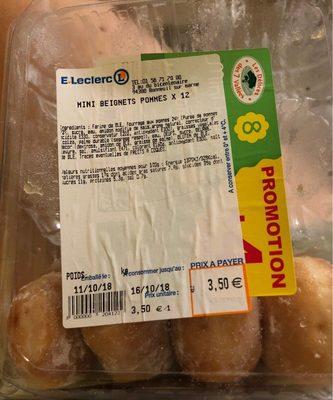 Mini beignets pommes - Produit