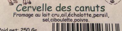 Cervelle des canuts - Ingrédients - fr
