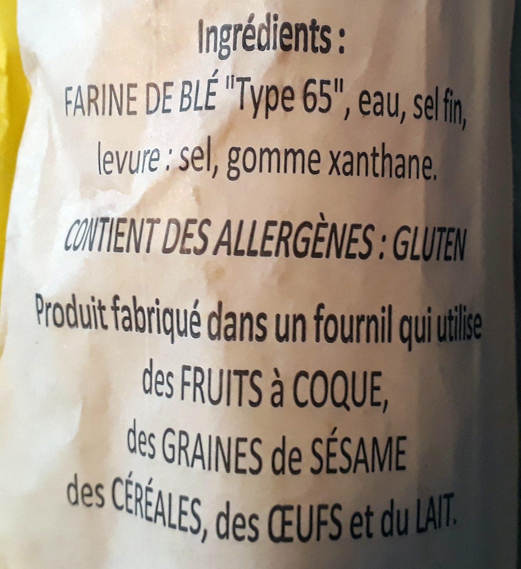 Baguette complète Leclerc - Ingrédients