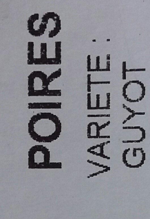 poires - Ingrédients - fr