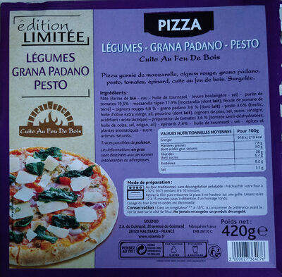 Pizza legumes - grana padano - pesto - Product