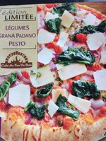 Pizza legumes - grana padano - pesto - Produit - fr