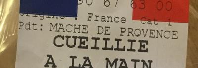 Mache de Provence cueillie à la main - Ingrédients - fr