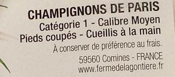 Champignons de Paris - Ingrédients - fr