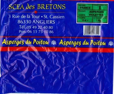 Asperges du Poitou variété : violettes calibre : 16 et + - Produit - fr