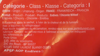 Endives (Chicorée Witloof) - Ingrediënten - fr