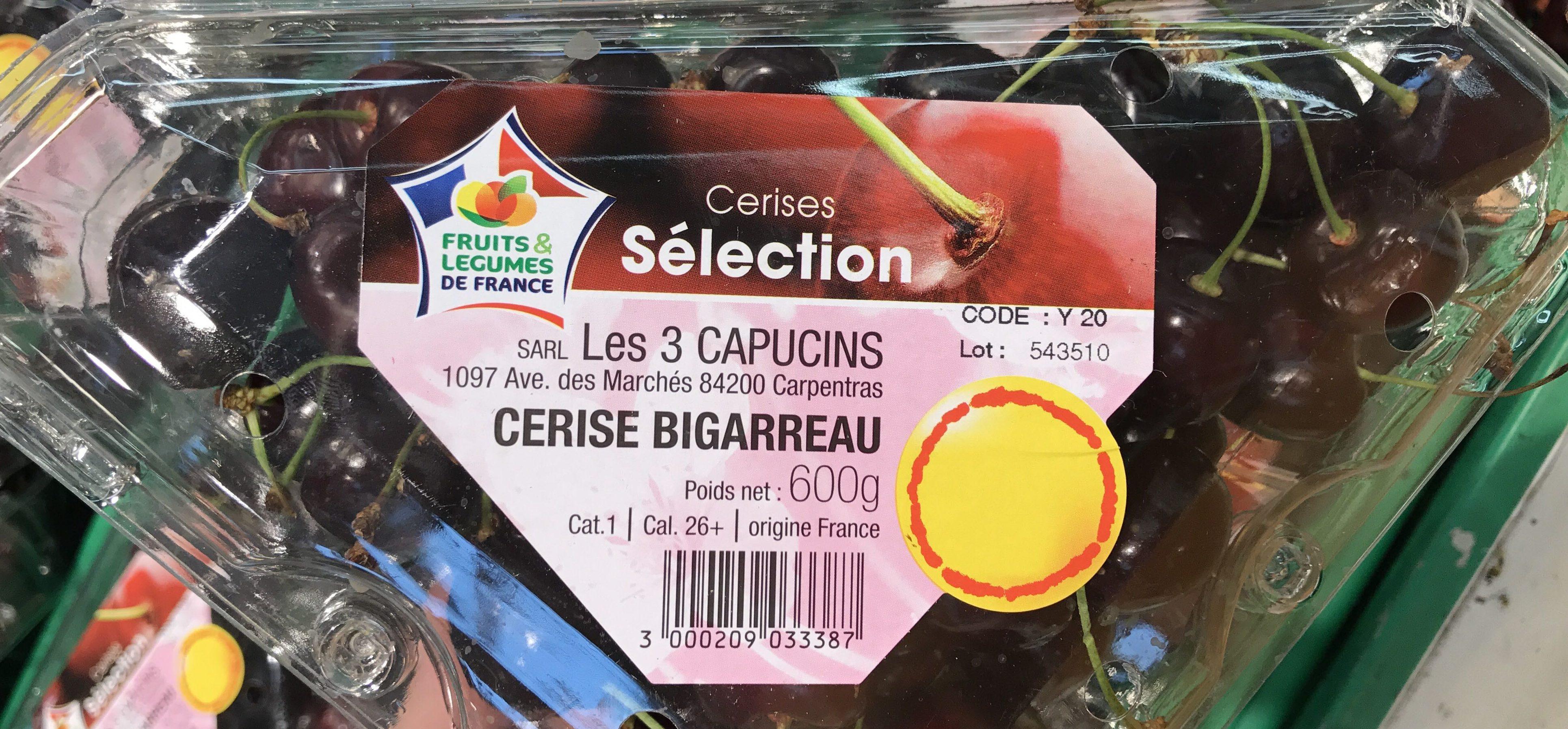 Cerises rouges Burlat ou Reverchon ou Napoléon - Product - fr