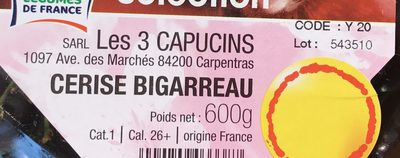 Cerises rouges Burlat ou Reverchon ou Napoléon - Ingrediënten - fr