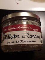 Rillettes de canard au sel de Noirmoutiers - Produit - fr