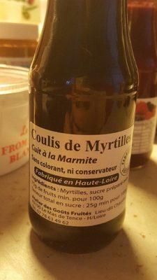 Coulis de myrtilles - Produit - fr