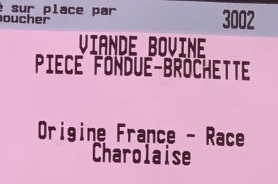 Piece fondue - brochette - Ingrédients