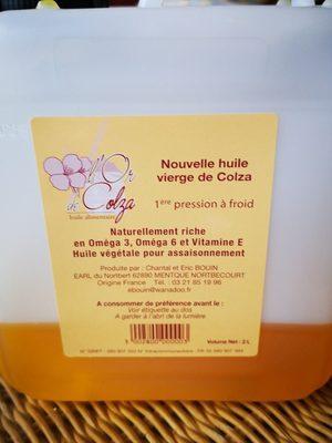 Huile vierge de colza - Ingrédients