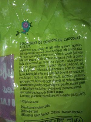 oeufs chocolat - Ingrédients
