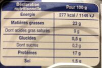 Le Pâté Hénaff - 栄養成分表 - fr