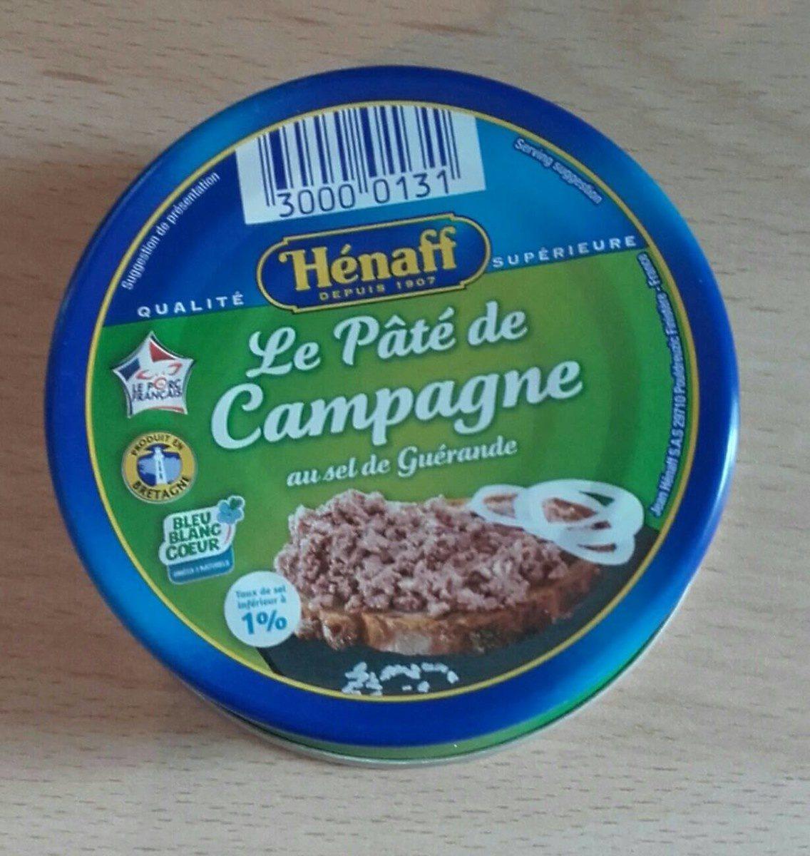 Le pâté de Campagne au sel de Guérande - Produit