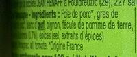 Le pâté de Campagne - Ingrédients - fr