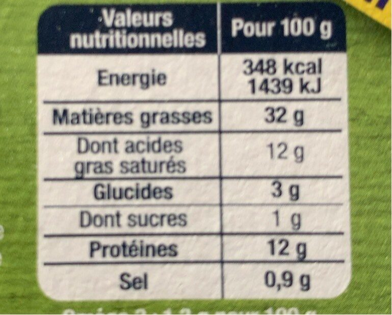 Le pâté de Campagne - Informations nutritionnelles - fr