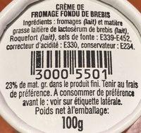 Société Crème - Ingrediënten - fr