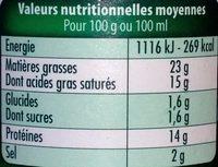 Société Crème - Voedingswaarden - fr