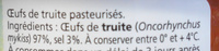 Øeufs de truite - Ingrédients - fr