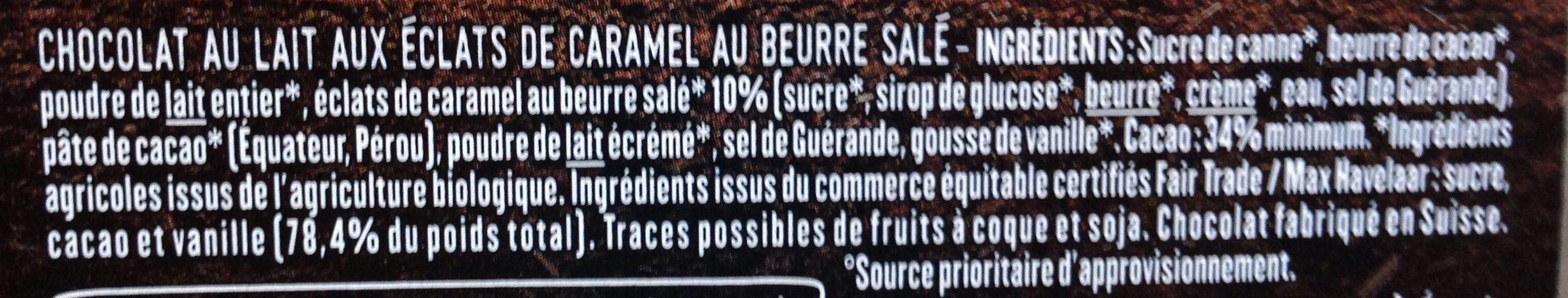 Lait caramel beurre salé - Ingrédients - fr
