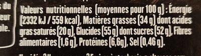 Lait caramel beurre salé - Informations nutritionnelles - fr