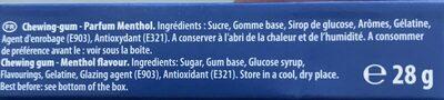 Hollywood chewing-gum - Ingrédients - fr