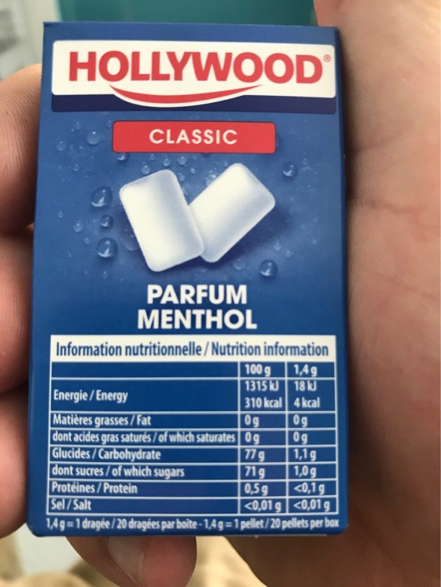 Hollywood chewing-gum - Informations nutritionnelles