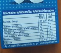 Hollywood chewing-gum - Informations nutritionnelles - fr